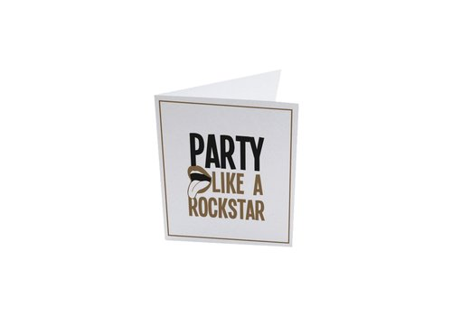 The Gift Label The Gift Label Greeting Card a Rockstar
