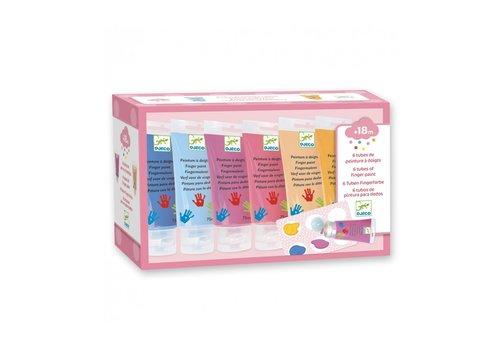 Djeco Djeco Vingerverf Sweet 6 Kleuren