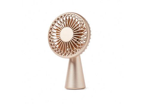 Lexon Lexon Wino Mini Ventilator Draadloos Oplaadbaar Soft Gold