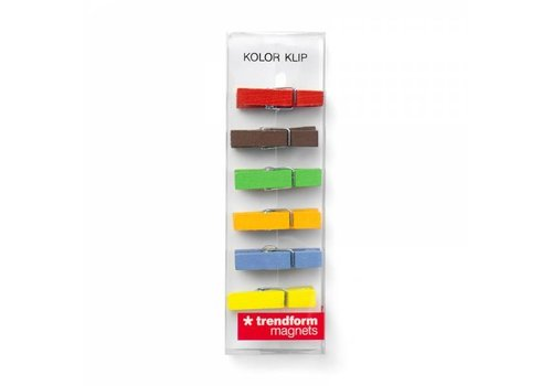 Trendform Trendform Kolor Klip Set Of 6 Magnets