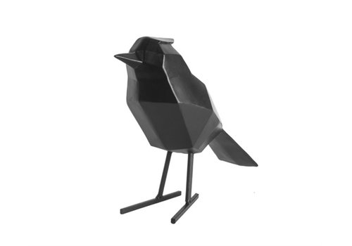 Present Time Present Time Statue Origami Bird Large Polyresin Black