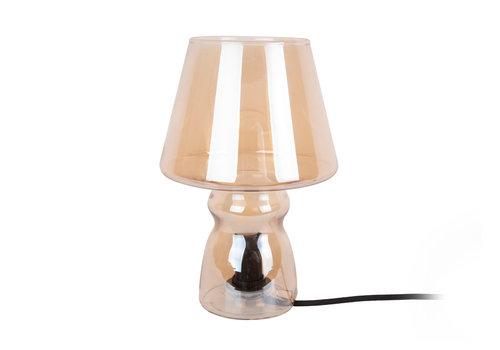 Leitmotiv Leitmotiv Tafellamp Klassiek Glas Bruin