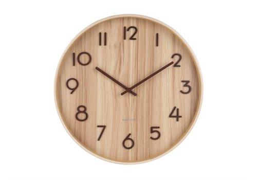 Karlsson Karlsson Wall Clock Pure Medium Light basswood