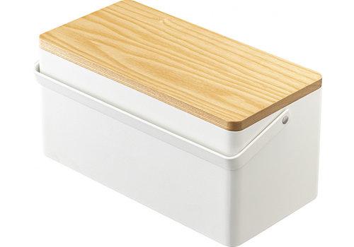 Yamazaki Yamazaki Sewing Box White/Wood