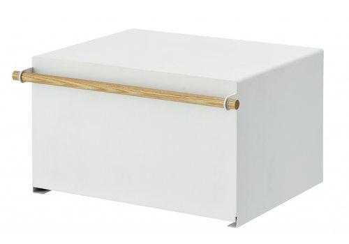 Yamazaki Yamazaki Broodbox Tosca Wit Staal/Hout