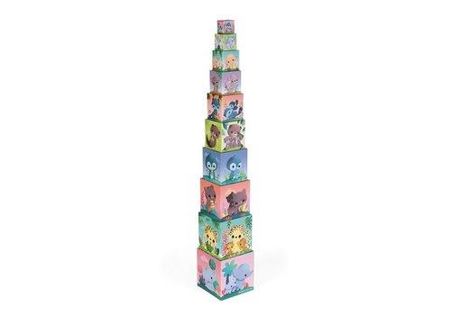 Janod Janod Stack Pyramid Super Cute Animals