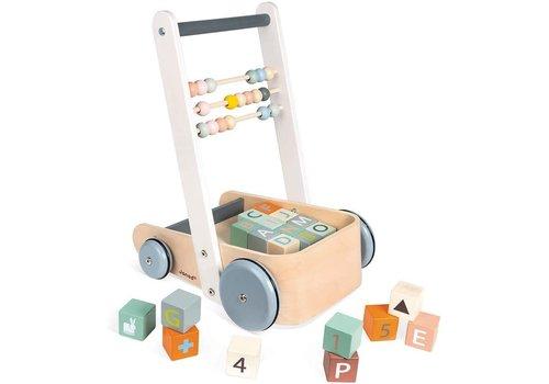Janod Janod Cart With ABC Blocks Sweet Cocoon