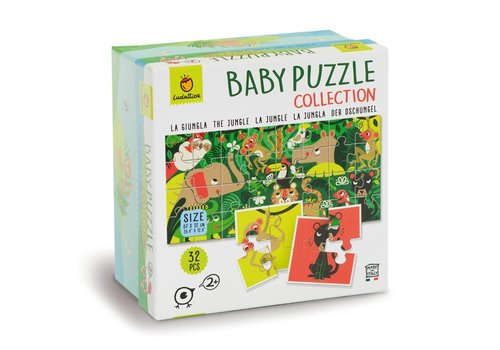 Ludattica Ludattica Baby Puzzel Collectie de Jungle 32 st