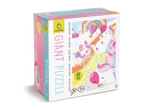 Ludattica Ludattica Giant Puzzle Magic Unicorn 48 st