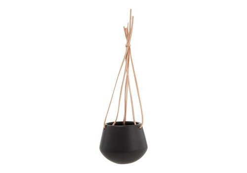 Present Time Present Time Hanging Pot Skittle Small Black