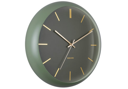 Karlsson Karlsson Wall Clock Globe Moss Green Ø 40 cm
