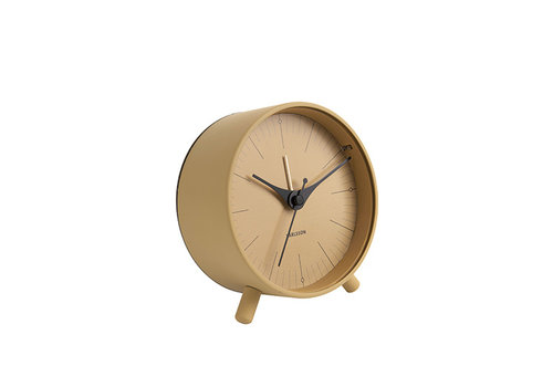 Karlsson Karlsson Alarm Clock Index Metal musterd yellow