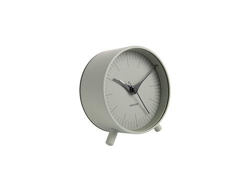 Karlsson Karlsson Alarm Clock Index Metal grayed jade