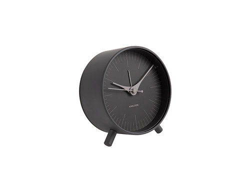 Karlsson Karlsson Alarm Clock Index Metal black