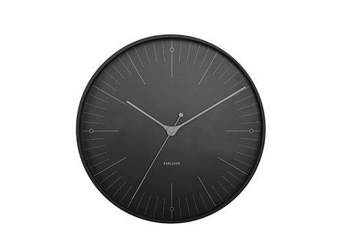 Karlsson Karlsson Wall Clock Index Metal black Ø 40 cm
