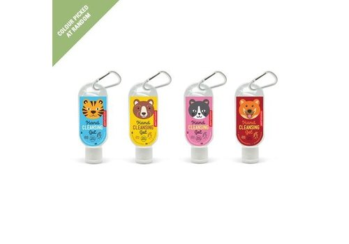 Kikkerland Kikkerland Hand Sanitizer Carabiner Animals 45 ml