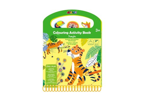 Avenir Avenir Scratch Kleur- en Spelboek Jungle