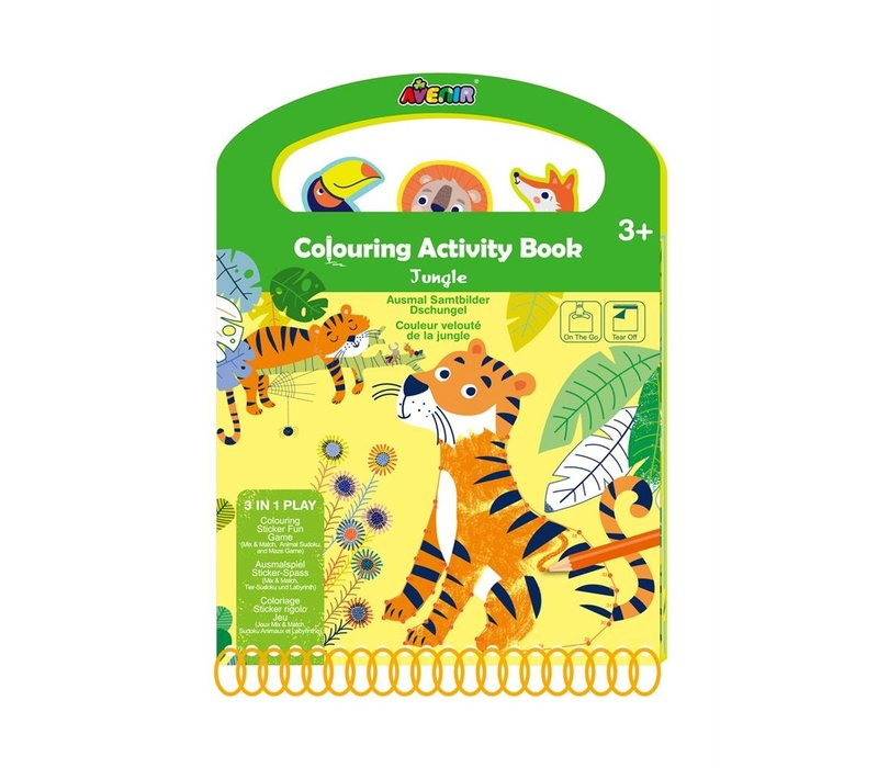 Avenir Scratch Kleur- en Spelboek Jungle