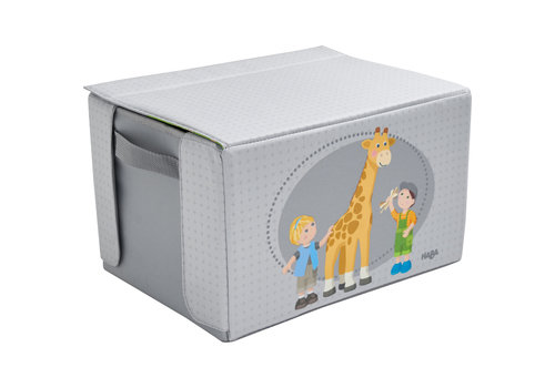 Haba Haba Little Friends Play Set And Storage Box 'At The Zoo'