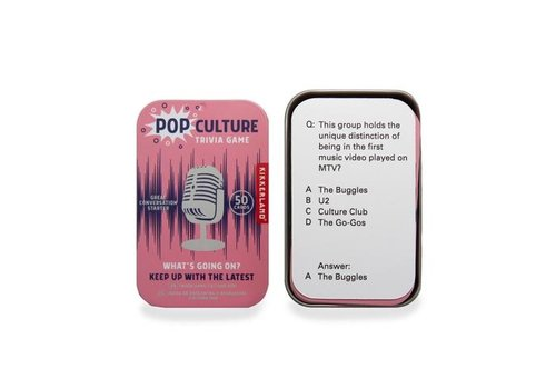 Kikkerland Kikkerland Pop Culture Trivia Game