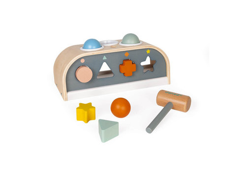 Janod Janod Sweet Cocoon Taptap and Shape Sorter