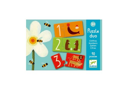 Djeco Djeco Puzzle Duo Numbers 10 puzzles