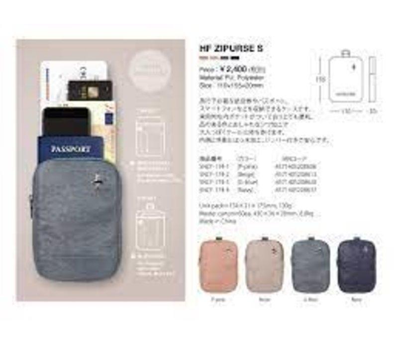 Alifedesign HF Zipurse L Reisetui Grijsblauw