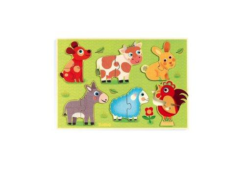 Djeco Djeco inlay puzzle Coucou Cow