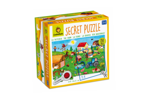 Ludattica Ludattica Secret Puzzel De Boerderij 24 st