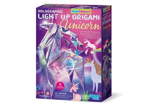 4M 4M KidzMaker Light-Up Origami Unicorn