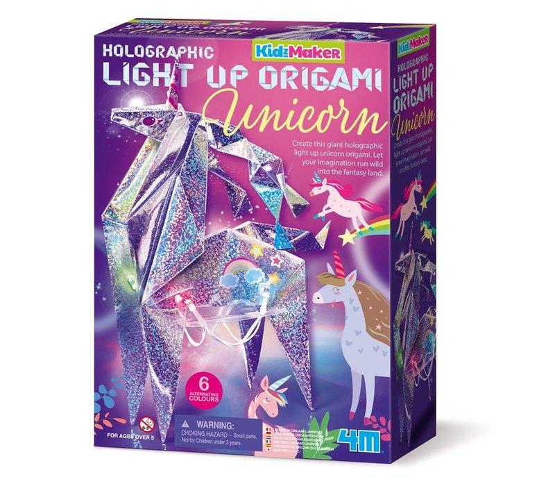 4M KidzMaker Light Up Origami Eenhoorn