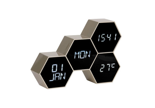 Karlsson Present Time Karlsson Alarm Clock Six In The Mix Gold