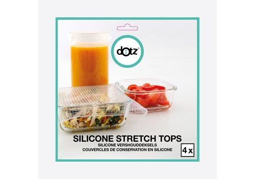 Dotz Dotz Set van 4 Vierkante Silicone Herbruikbare Vershouddeksels