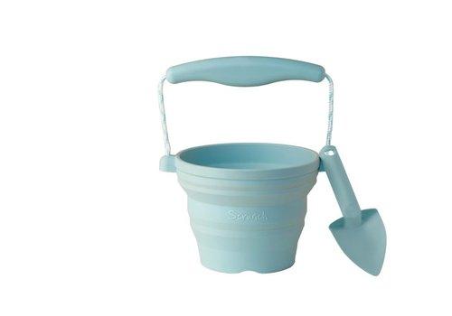 Scrunch Scrunch Seeding Pot With Shovel Blue