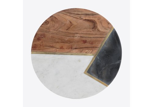Typhoon Typhoon Elements Serving Board from Acacia Wood, Marble and Stone ∅ 30cm