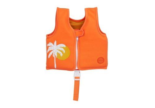 Sunnylife Sunnylife Zwemvest Desert Palms Neon Pomelo 1-2 Jaar