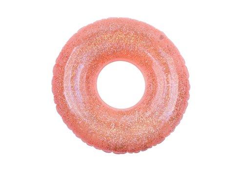 Sunnylife Sunnylife Inflatable Pool Ring Glitter Pomelo