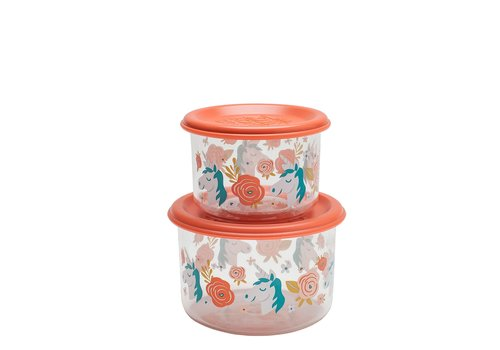 Sugarbooger Sugarbooger Good Lunch Snack Containers Set of 2 Unicorn