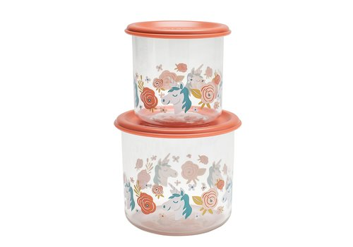 Sugarbooger Sugarbooger Good Lunch Set of 2 Snack Containers Unicorn Large