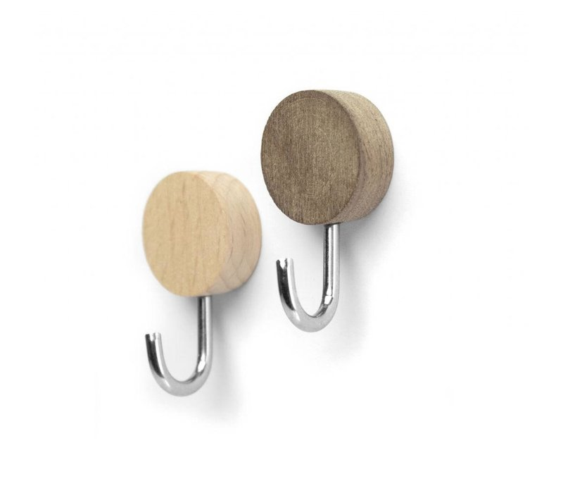 Trendform Wood Magnetic Hooks Set Of 2 Pcs