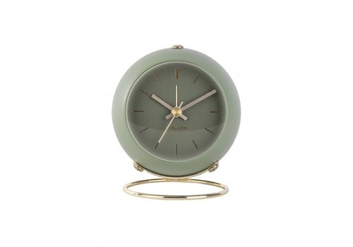 Present Time Present Time Alarm Clock Globe Green