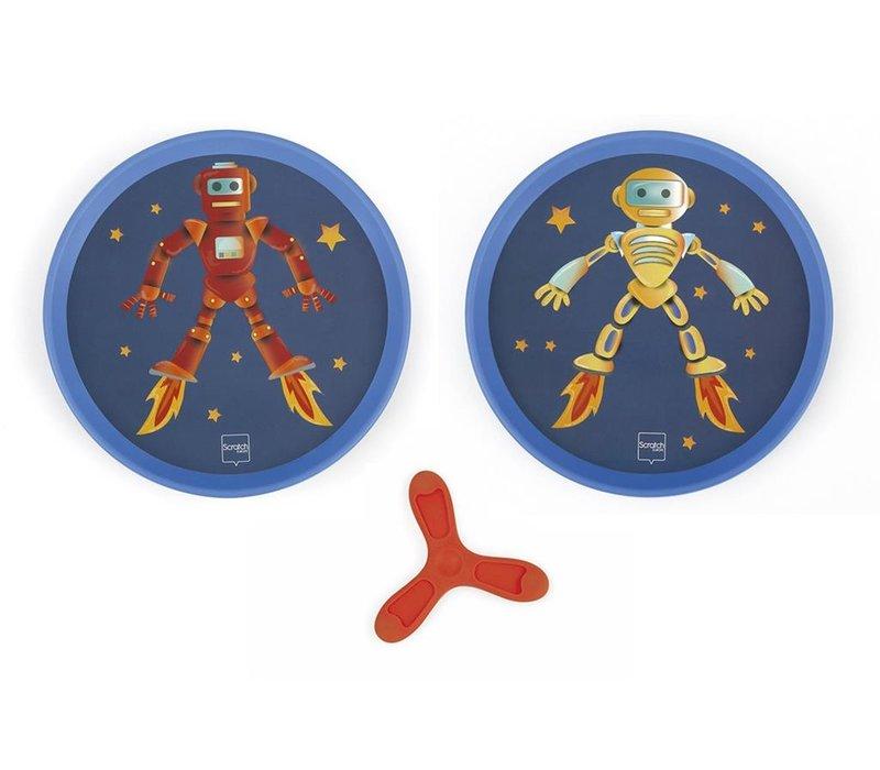 Scratch Hand-Disker Duo Robot