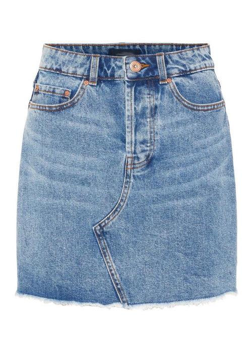 Caya Raw Edge Denim- Skirt