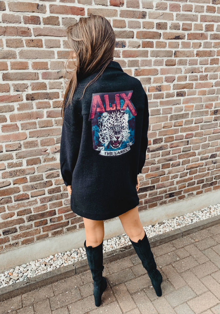 Alix - Woven bull felted wool jacket