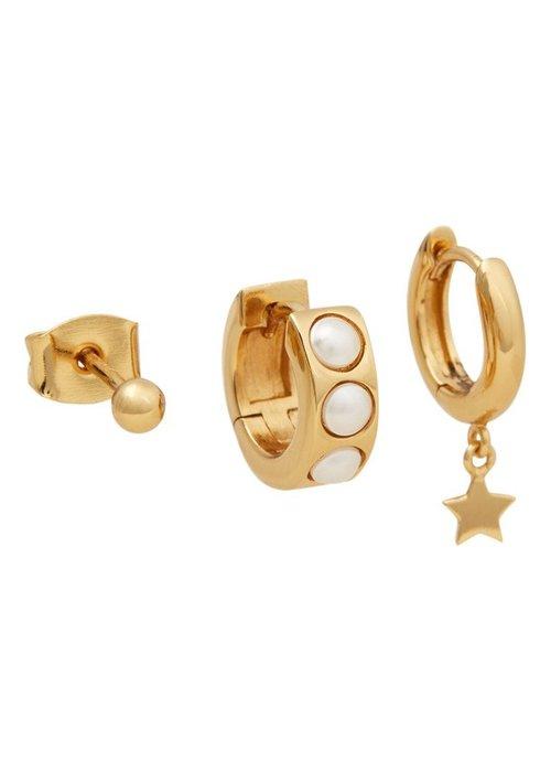 Orelia Orelia - Chunky Pearl Star Ear Party