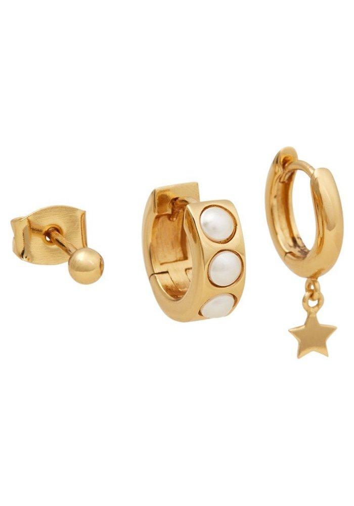 Orelia - Chunky Pearl Star Ear Party