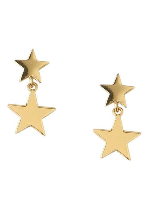 Orelia Orelia - Double Star drop stud earrings