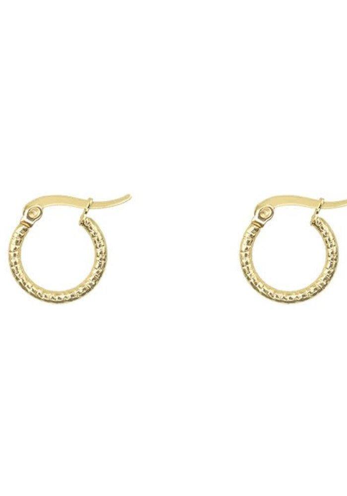 My Jewellery - Oorringen textuur klein goud