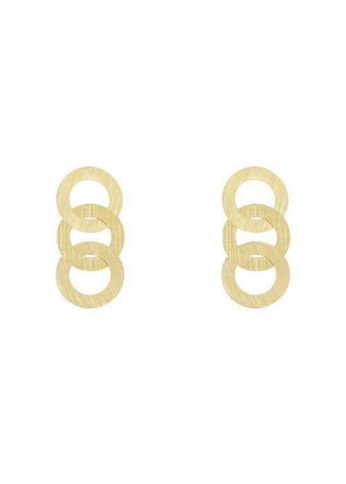 Oorbel drie ringen klein