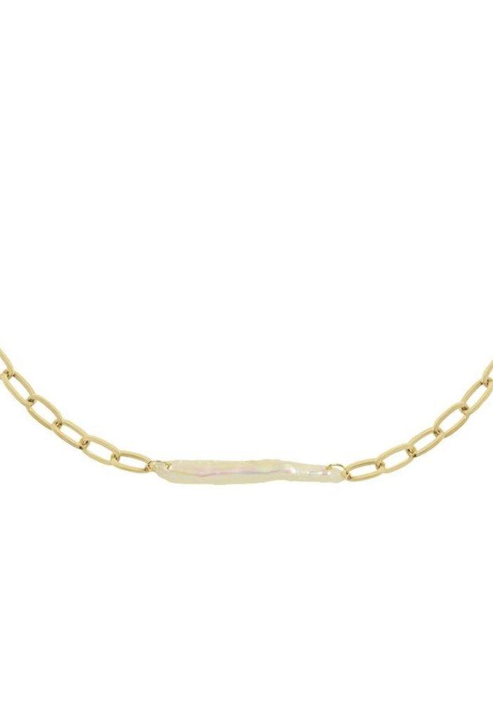 My Jewellery - ketting met brede parel